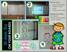 How to make big bulletin board displays!!!!