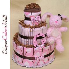 Girl blanket diaper cake