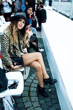 rumi neeley | leopard coat and hat