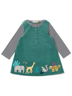 John Lewis & Partners Baby Cord Animal Pinafore and Stripe T-Shirt Set, Teal Future Daughter, Future Baby, Toddler Outfits, Girl Outfits, Kids Wear, Children Wear, Bookmarks Kids, Baby Crib Bedding, Winter Dresses