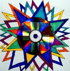 Radial design around CD
