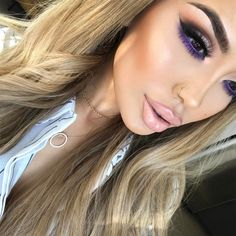 """47.4k Likes, 282 Comments - @iluvsarahii on Instagram: """"A closer look at yesterday's makeup , who loves purple ?! ___________________________…"""""""