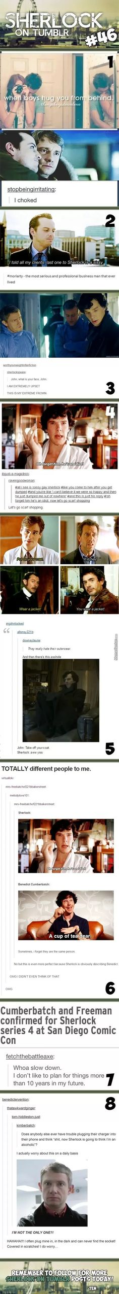 Sherlock On Tumblr #46 my thoughts every morning coming home from work and plugging my phone in!!