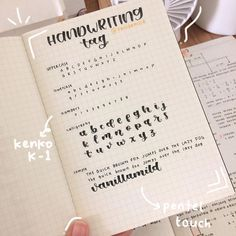 here is my handwriting tag since so many people have asked me to post this. anyways happy fasting everyone! may each and everyone of… Handwriting Examples, Perfect Handwriting, Handwriting Alphabet, Handwriting Styles, Improve Handwriting, Hand Lettering Alphabet, Handwriting Practice, Journal Fonts, Bullet Journal Notes