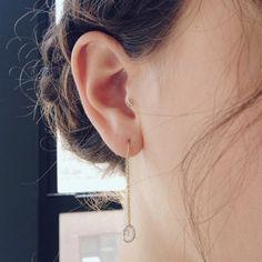#new #chainthru #diamondslice #earrings #diamonds #14k #gold #valejewelry