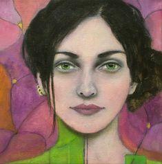 Art by AliceRudolf  Abstract Portrait, Portrait Art, Oil Pastel Drawings, Goddess Art, People Art, Art Studies, Art Journal Inspiration, Life Drawing, Figure Painting