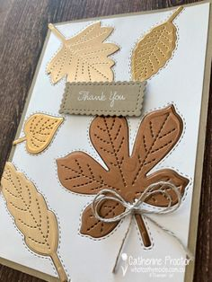 Stampin Up Weihnachten, Leaf Cards, Beautiful Handmade Cards, Friendship Cards, Thanksgiving Cards, Fall Cards, Card Making Inspiration, Scrapbook Paper Crafts, Creative Cards
