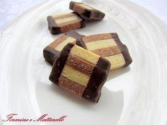 formine e mattarello: Biscotto bicolore nocciole e rum