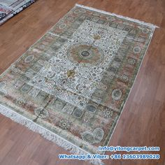 x Double Knots Persian Rug Made By Yilong. Decor, Silk Carpet, Carpet, Rugs, Home Decor, Persian Rug, Bohemian Rug, Rug Making