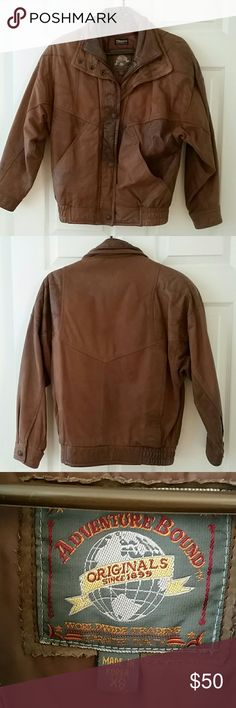 Leather jacket Brown leather jacket. Very loved and worn for about the last 10 years. So warm and comfy. Has a removable Thinsulate lining. Wilsons Leather Jackets & Coats Utility Jackets