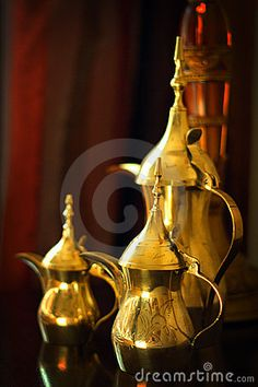 Objects: Arabic Coffee Pots Stock Image - Image of kuwait, tradition: 18727651
