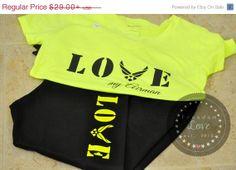 ON SALE BLACK  Love Touchdown Capri Sweat by FreedomLoves603, $15.95