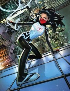 Silk Spiderman, Spiderman Girl, Spiderman Tattoo, Marvel Tattoos, Dc Comics Women, Dc Comics Girls, Marvel Women, Marvel Rpg, Marvel Comics Art