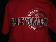 Unique Harley Davidson Circle Cyles Red Mens t shirt ~ montana #harleydavdison #GraphicTee