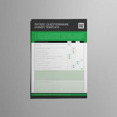 Employee Survey Template A Format  Cmyk  Print Ready  Clean
