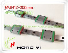 65.00$  Buy here - http://ali9jr.shopchina.info/go.php?t=886299504 - Square linear guide 2 X  MGN12 L=200mm with 4pcs MGN12C linear blocks(can be cut any length) 65.00$ #bestbuy