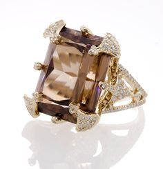 18k Gold and Diamond Kings Crown Mali Zircon Ring by Erica Courtney   # Pin++ for Pinterest #