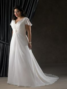 I love the sleeves, more flowing though...I should not watch Say yes to the dress