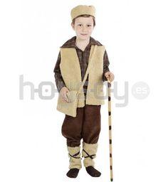 #Disfraz de pastor para niño especial para #Navidad #Disfraces Incluye: chaleco, zurrón, pantalón, tobilleras y gorro
