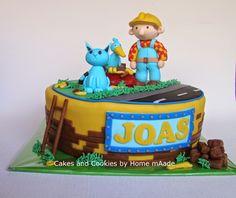 Cakes and Cookies by Home mAade: Bob de Bouwer taart voor Joas