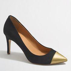 """<ul><li>Suede/patent polyurethane upper.</li><li>3 1/2"""" heel.</li><li>Man-made lining and sole.</li><li>Import.</li></ul>"""