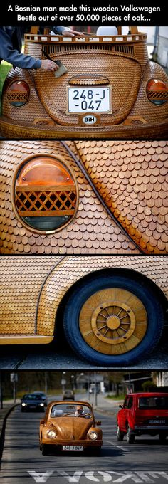 Wooden Volkswagen..now that's just way impressive!!!