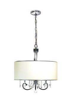 Marquis Lighting 3 Light Polished Chrome Incandescent Chandelier With Off White Linen Glass At Menards