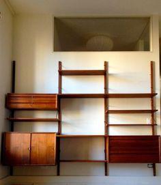 majestic hansen danish modern teak modular wall unit (denmark
