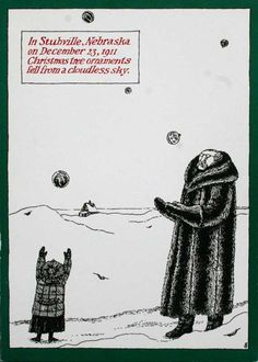 Edward Gorey Christmas Card