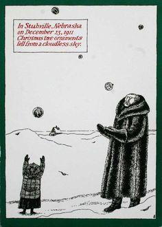 Edward Gorey Christmas Card