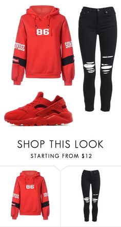 A fashion look from December 2017 featuring red hoodie and ripped jeans. Browse and shop related looks. Cute Outfits For School, Cool Outfits, Casual Outfits, Tomboy Fashion, High Fashion, Womens Fashion, Fashion Tips, Winter Outfits, Summer Outfits