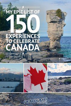 IveBeenBit.ca :: My Epic List of 150 Experiences to Celebrate Canada | Canada150, British Columbia, BC, Alberta, AB, Saskatchewan, SK, Manitoba, MB, Ontario, ON, Quebec, QC, New Brunswick, NB, Nova Scotia, NS, Prince Edward Island, PEI, Newfoundland, NL, Nunavut, NU, Northwest Territories, NT, Yukon Territory, YT, Travel |