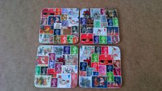 Up cycled postage stamp coaster sets - The Supermums Craft Fair