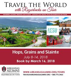 An Irish Journey of Taste, Knowledge & Adventure. Book by March 16, 2018 and save $75 on the land package price by using promo code 18IRW75.