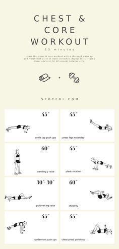 core workouts A workout that tones your chest and also helps define your midsection in the process! This Chest & Core Workout was designed to create not only Fitness Workouts, Sport Fitness, At Home Workouts, Weekly Workouts, Core Workouts, Fitness Goals, Fitness Tips, Workout Schedule, Workout Plans