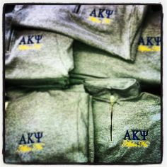 1/2 zips with embroidery designed for AKPsi business fraternity at the University of Arizona