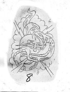 Skull Tattoo Design, Tattoo Designs, Tattoo Ideas, Vintage Flash, Vintage Art, Tattoo Museum, Charm Tattoo, Traditional Tattoo Flowers, Prison Art