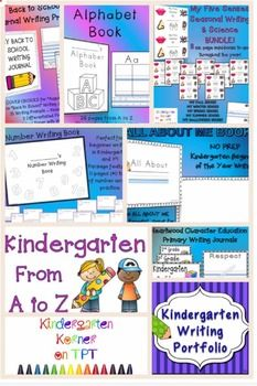 ONE DAY SALE!  AMAZING DEAL!  My TOP go-to resources for the BEGINNING OF KINDERGARTEN and for the ENTIRE YEAR.  BUNDLE contains 8 of my NO PREP Top Selling Products for Kindergarten Math, Writing, and Science!   These resources are sure to get you off to a great start in Kindergarten!