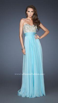 {La Femme 18704 | La Femme Fashion 2013} - La Femme Prom Dresses - Gorgeous - Flowy - Strapless - Sweetheart - Beaded Top - Empire Waist - Long Prom - Homecoming - Pageant - Bridesmaid