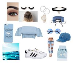 """Denim"" by shhfatuma on Polyvore featuring adidas, Sugarbaby, SO and Betsey Johnson"