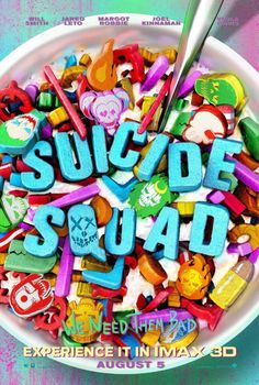 """Suicide Squad [Average]  Another in the DCEU's haste to get everybody together to catch up with Marvel. Why these 'bad guys' had to endlessly quip about their antics to make light of them, I am not sure. They could have been more serious. I think they are trying to get too close to the """"comic"""" feel and losing the thread of being a good """"movie"""". Better than expected, if only for the post-credits Bruce Wayne scene linking the threads."""