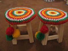 Funda Tejida Al Crochet Con Pompones