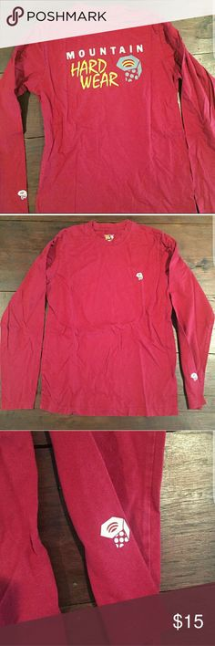 Re-Posh! Men's mountain hardware long sleeve Red/maroon ish Men's size small long sleeve t-shirt, purchased and LOVE IT but just too small for me :/ my loss your gain! Mountain Hard Wear Shirts Tees - Long Sleeve