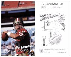 "Joe Montana 1988 49ers Smokey NNO (5""x8"" Jumbo)"