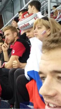 Oh my gosh...that hat.  Toews at the US vs. Russia game 2-15-14 (And Sharpie in the background pretending not to know him)