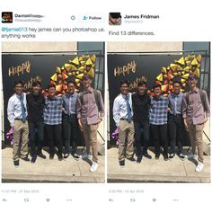 You have to check out the hilarious literal Photoshops made by James Fridman. He can do anything in Photoshop, but he'll only do EXACTLY what you ask for. Funny Photoshop Requests, Funny Photoshop Fails, Photoshop Help, Photoshop Actions, Funny Cute, The Funny, Hilarious, Image Hilarante, James Fridman