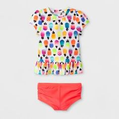 25619adc25 Baby Girls' Short Sleeve Fruit Rash Guard Set - Cat & Jack™ Pink. Rash  GuardPink SwimSwim Shorts WomenToddler BoysBaby & Toddler ClothingGirl ...