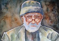 Original Watercolor Painting portrait wall decor by SuayaArt, $85.00