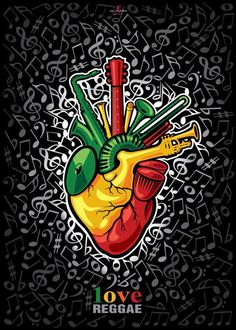 reggae heart! This would be a cool tattoo!