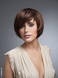 Intermede - medium brown straight hair styles (20830)